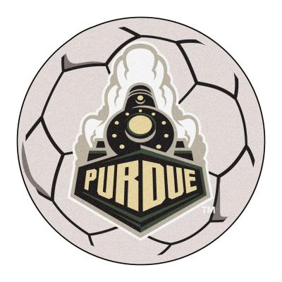 NCAA Purdue University Cream 2 ft. x 2 ft. Round Area Rug