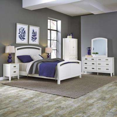 Modern - Queen - White - Beds & Headboards - Bedroom Furniture - The ...