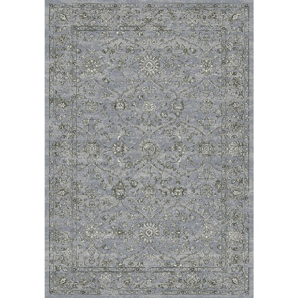 Ancient Garden Steel Blue/Cream 8 ft. x 11 ft. Indoor Area Rug