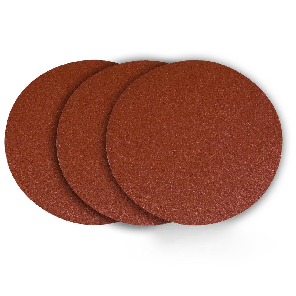 12 in. 240 Grit PSA Aluminum Oxide Sanding Disc, Self Stick