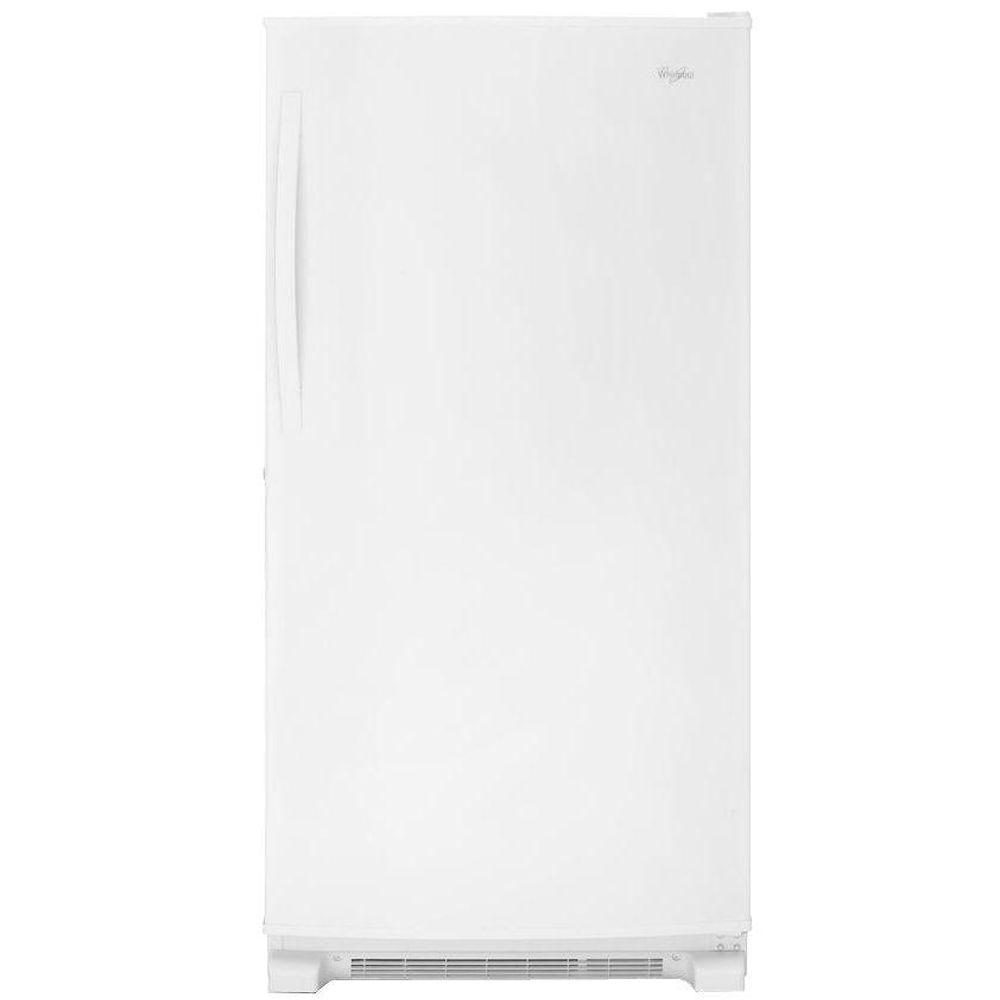 whirlpool 19 7 cu ft frost free upright freezer in white rh homedepot com Frigidaire Upright Freezer Small Upright Freezers Walmart