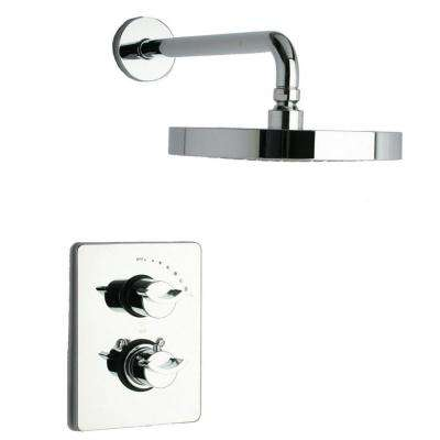 Morgana 2-Handle 1-Spray Thermostatic Tub and Shower Faucet in Chrome (Valve Included)
