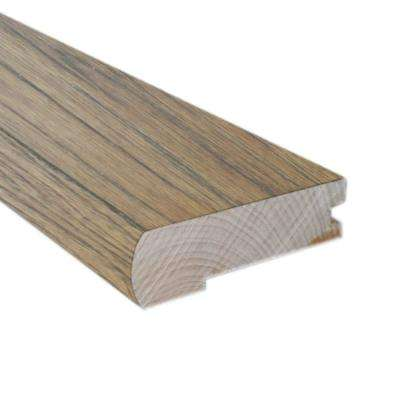 Rustic Artisan Hickory Sepia 0.81 in. Thick x 3 in.Wide x 78 in. Length FlushMount Stairnose Molding