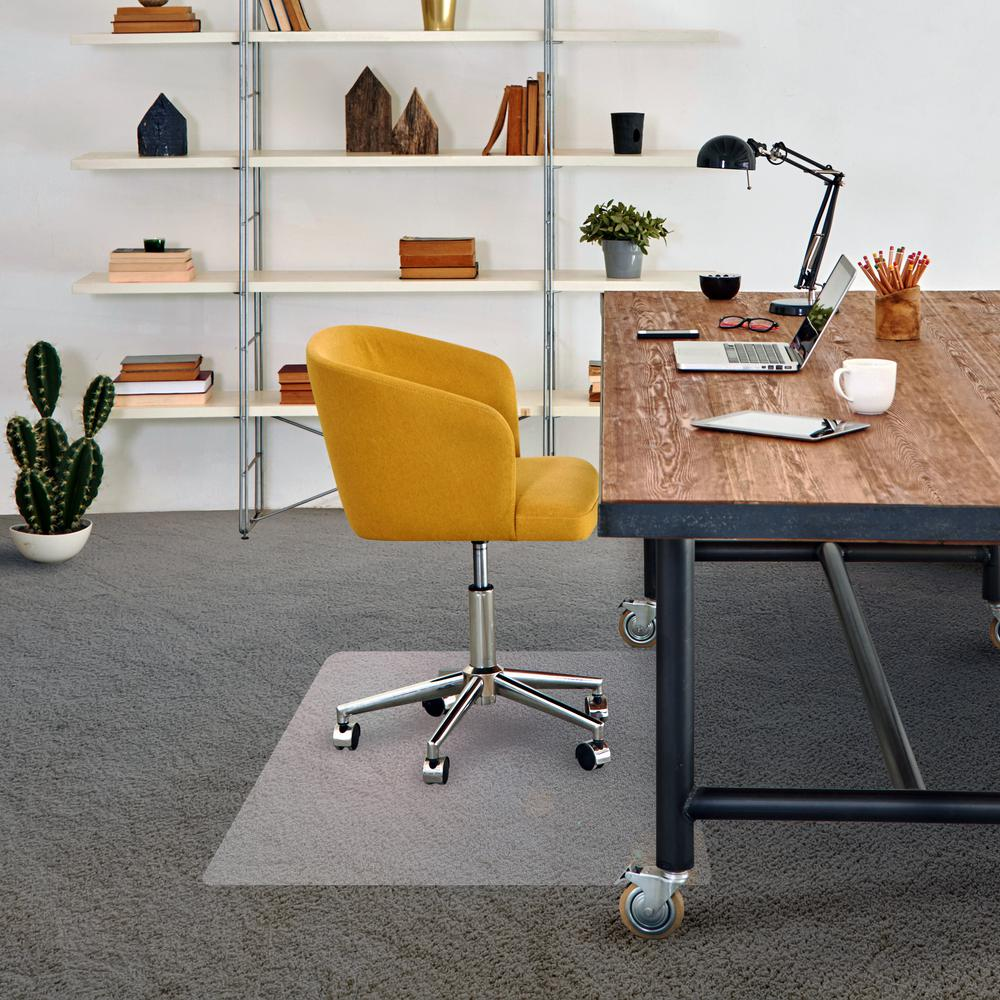 Best way to protect carpet from office chair nitrogen tire filler