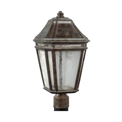 Feiss Londontowne 1-Light Outdoor Weathered Chestnut Integrated LED Post Light