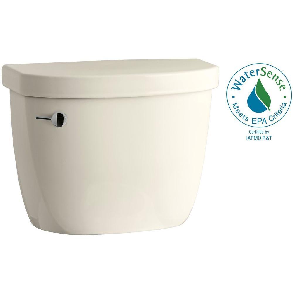 Cimarron 1.6 GPF Single Flush Toilet Tank Only with AquaPiston Flushing Technology in Almond