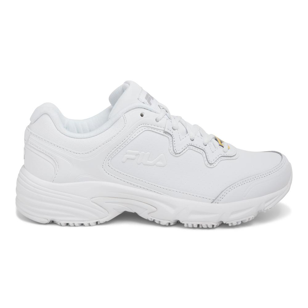 0d3d6d5f37 Fila Memory Fresh Start 2 Women Size 11 White Leather/Synthetic Soft Toe  Work Shoe
