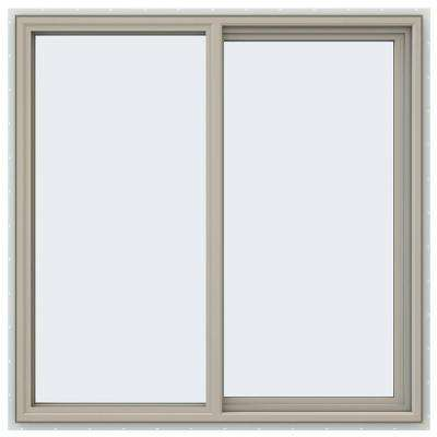 47.5 in. x 47.5 in. V-4500 Series Right-Hand Sliding Vinyl Window - Tan