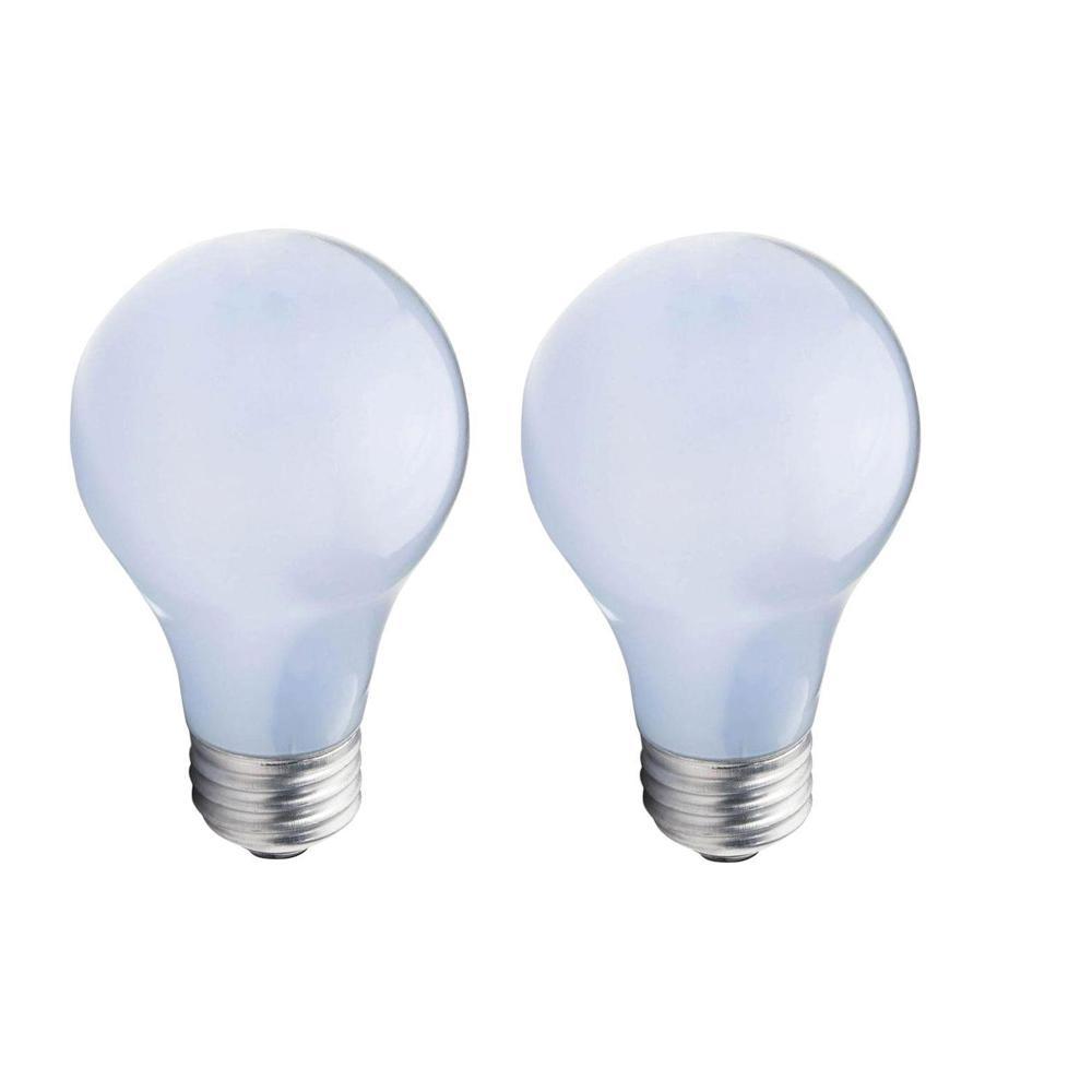 75-Watt Equivalent A19 Halogen Long Life Light Bulb (2-Pack)