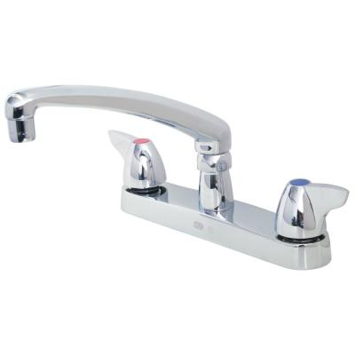 8 in. Widespread 2-Handle Kitchen Faucet in Chrome