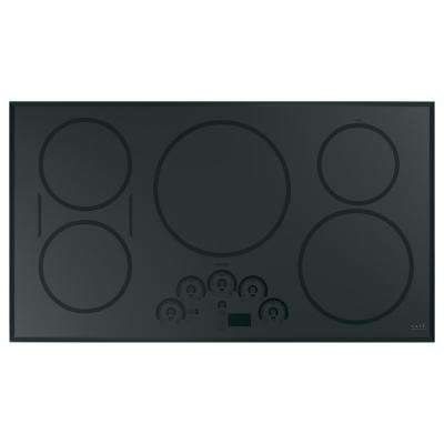 36 in. Induction Cooktop in Stainless Steel with 5 elements including Sync-Burners