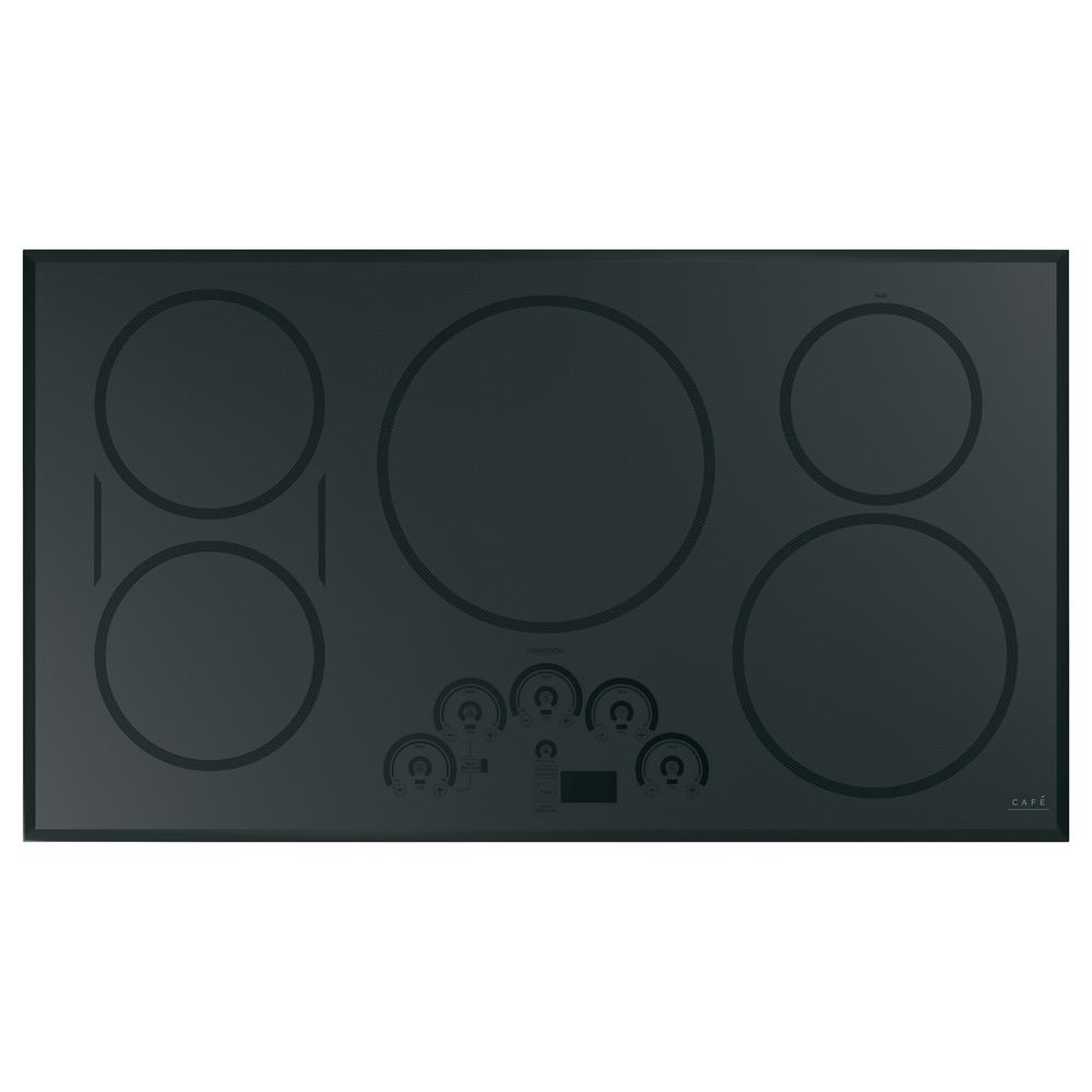Cafe 36 in. Smart Induction Cooktop in Stainless Steel with 5 elements including Sync-Burners