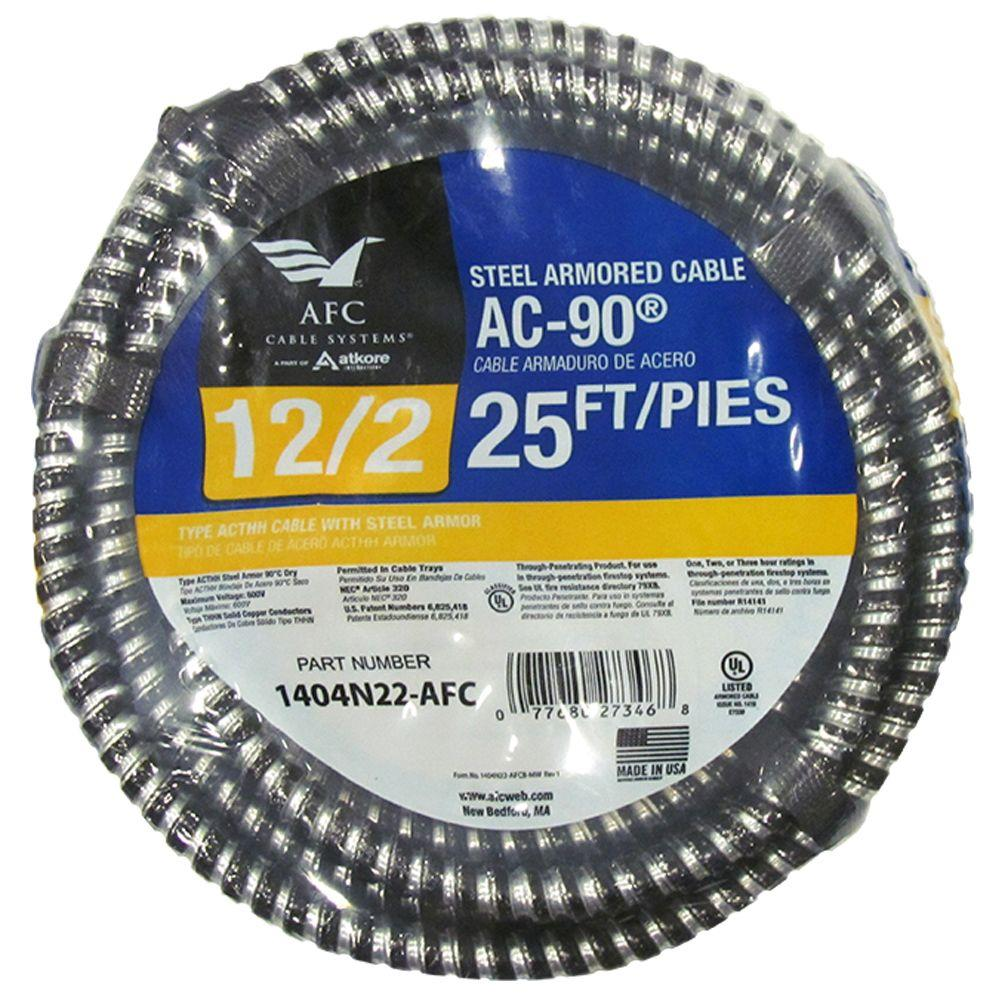 Afc Cable Systems 12 2 X 25 Ft Solid Bx Ac 90 Cable