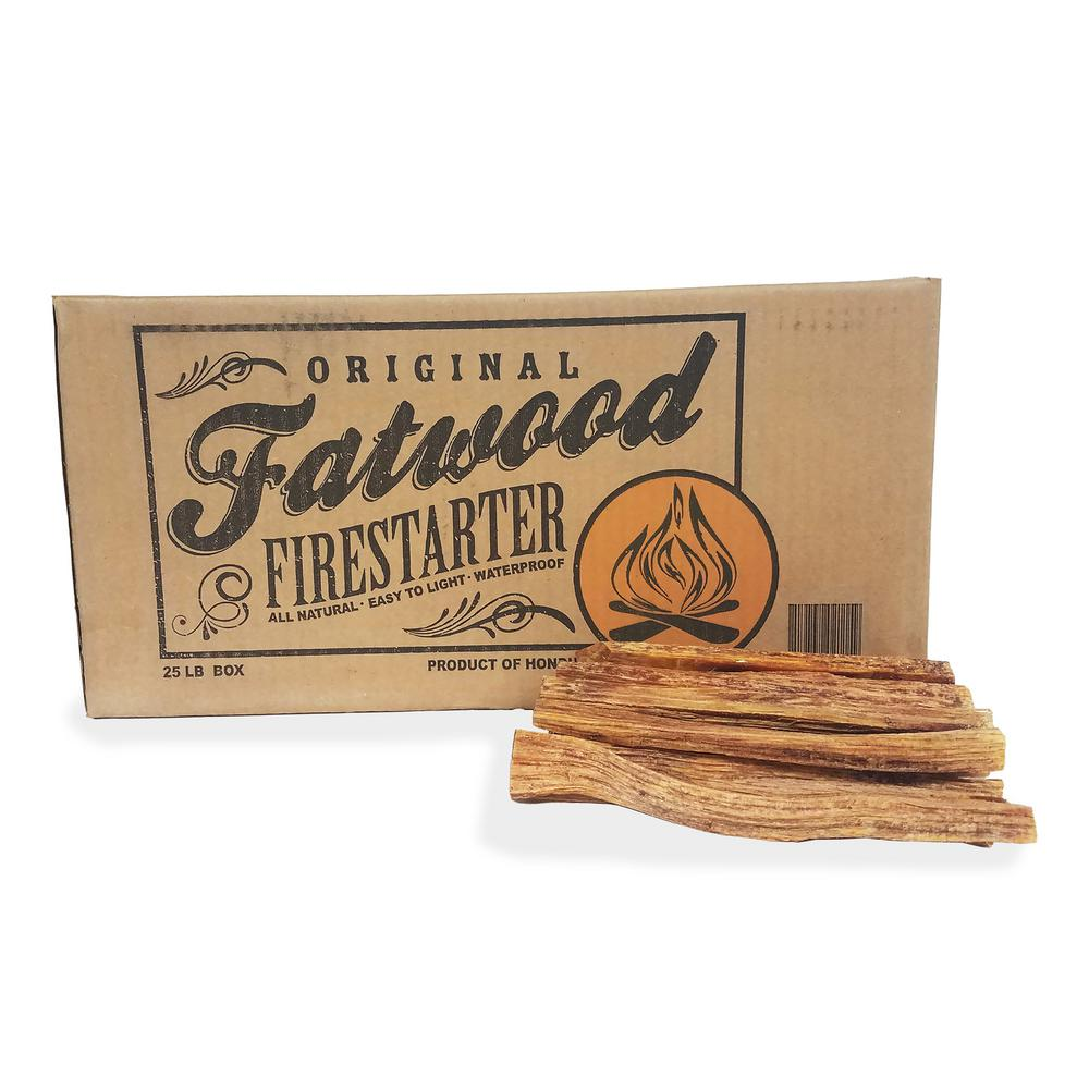 25 lbs. 100% All Natural Fatwood Firestarter