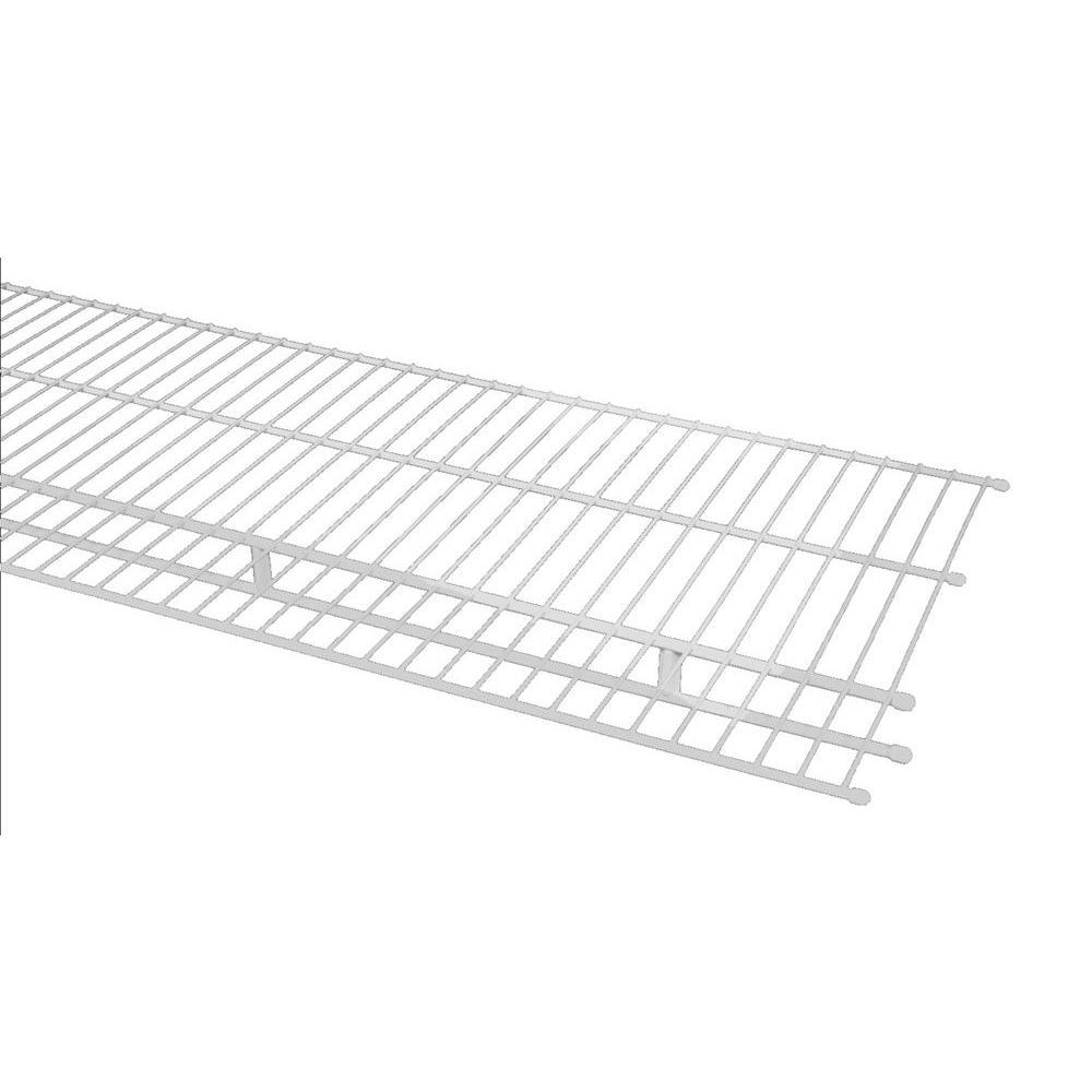 closetmaid 144 in  x 16 in  steel ventilated wire shelf