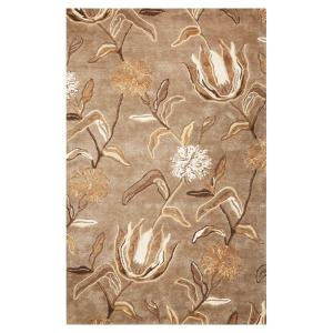 Kas Rugs Flowers At Dusk Silver 8 Ft X 10 Area Rug Flo45778x10 The Home Depot