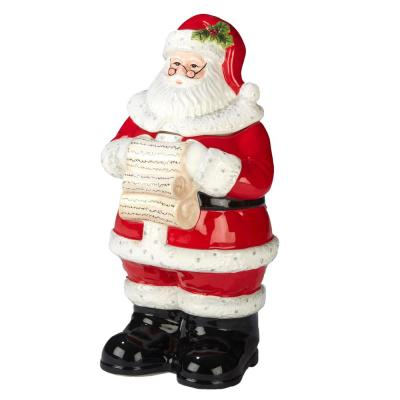 Holiday Wishes by Susan Winget 3-D 12.25 in. Santa Cookie Jar