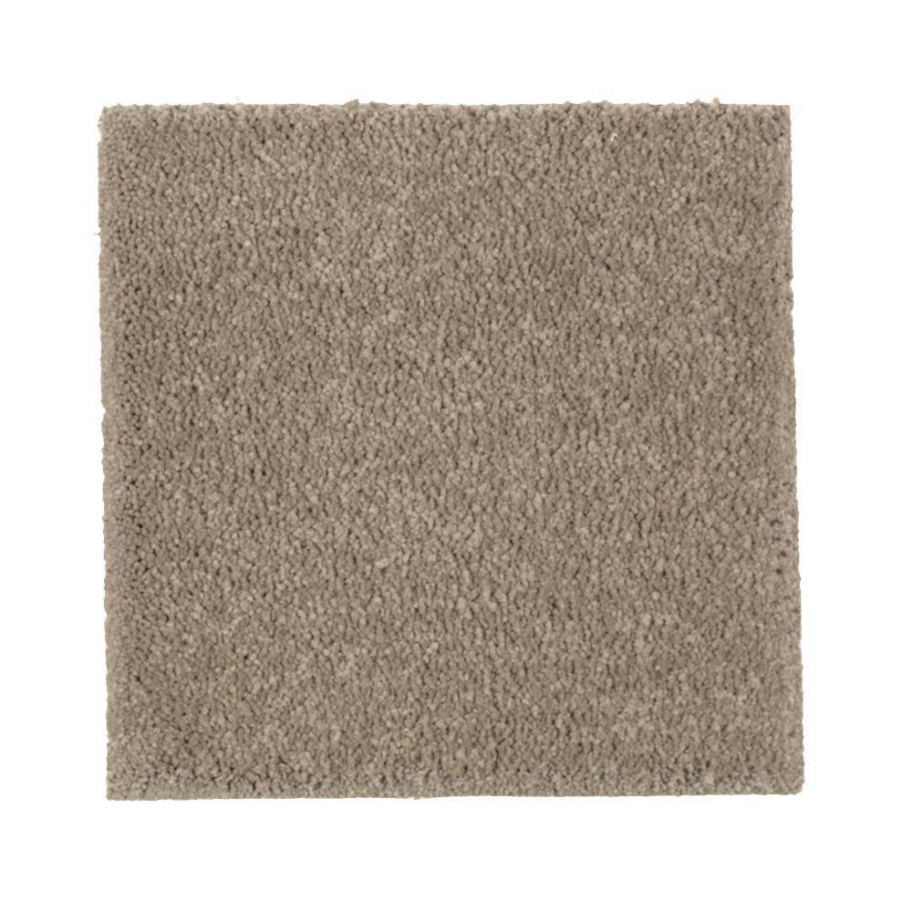 Carpet Sample - Gazelle I - Color Desert Trail Texture 8 in. x 8 in.