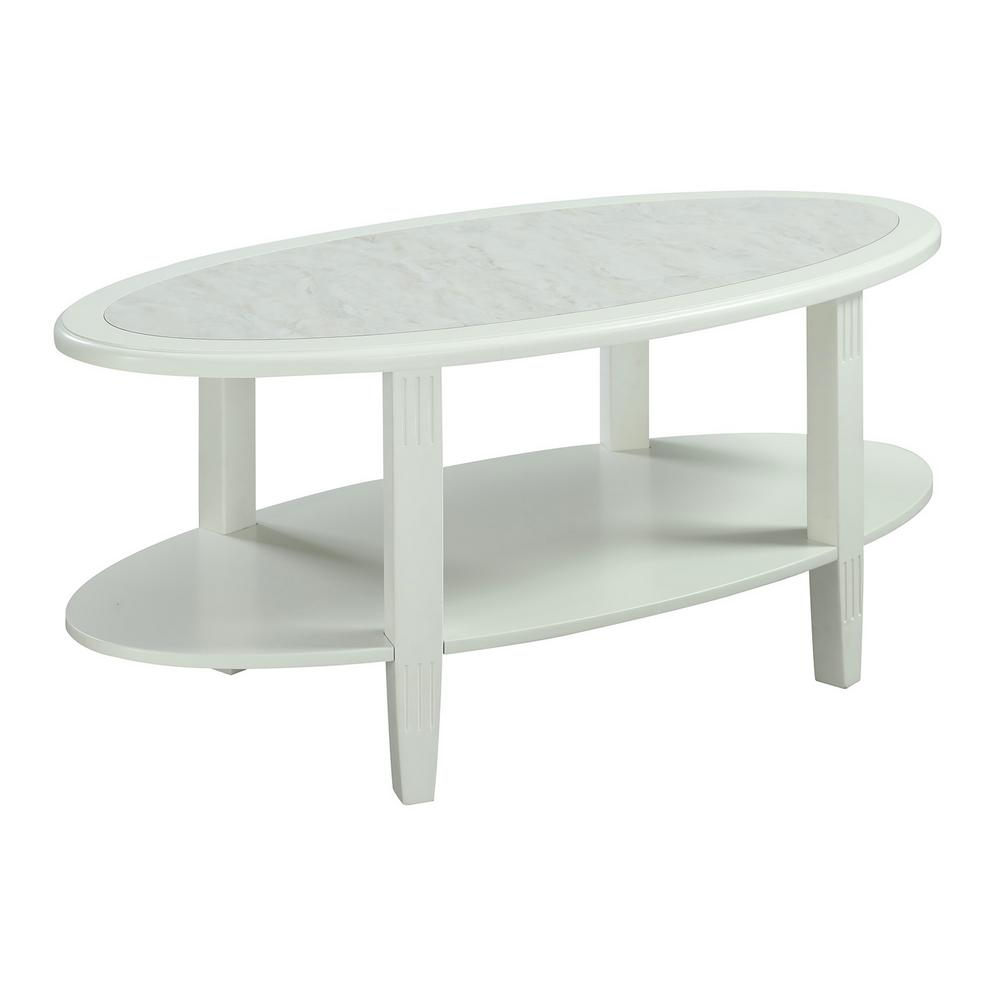 Faux White Marble Coffee Table Set: Convenience Concepts Seville Faux Marble And White Coffee
