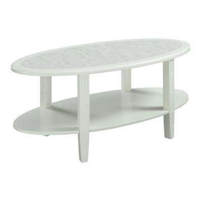 Seville Faux Marble And White Coffee Table