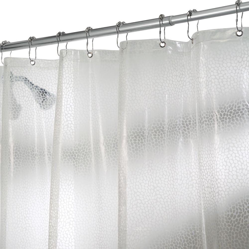 interDesign Rain Shower Curtain in Clear-21981 - The Home Depot
