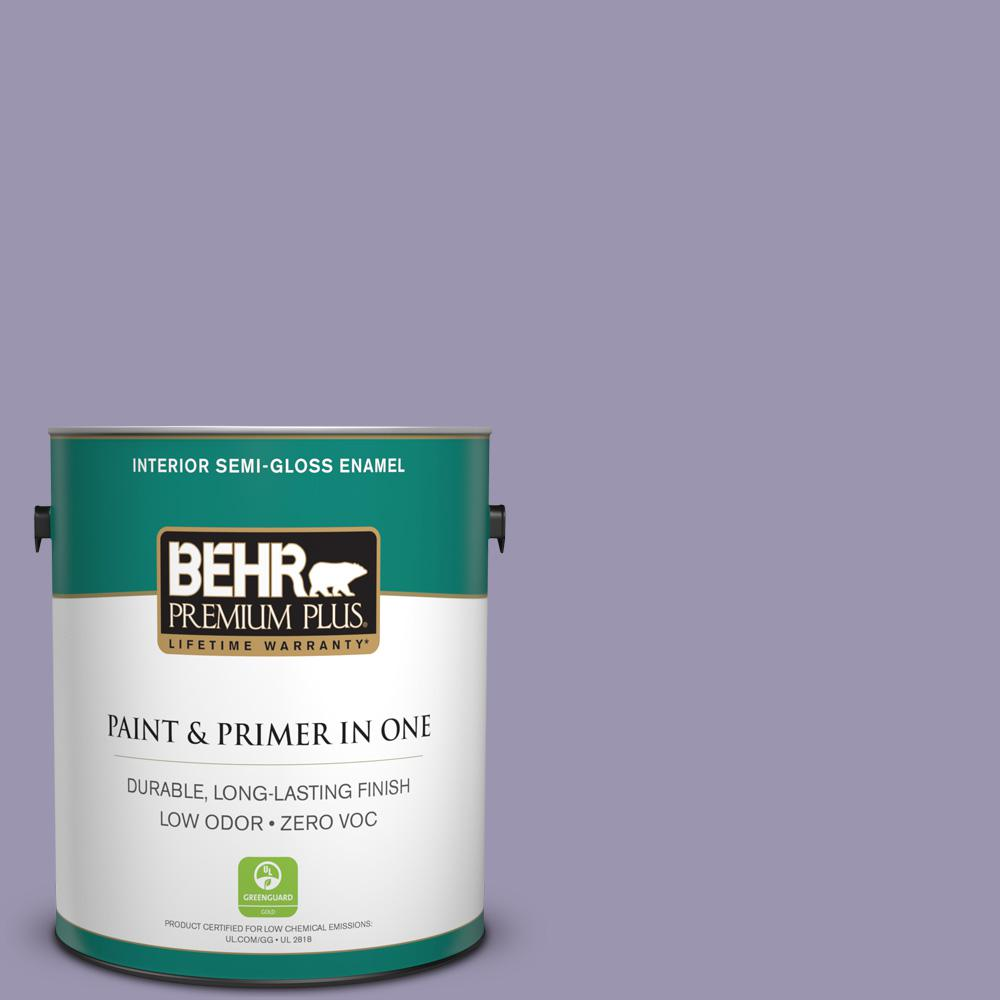 BEHR Premium Plus 1-gal. #S570-4 Night Music Semi-Gloss Enamel Interior Paint