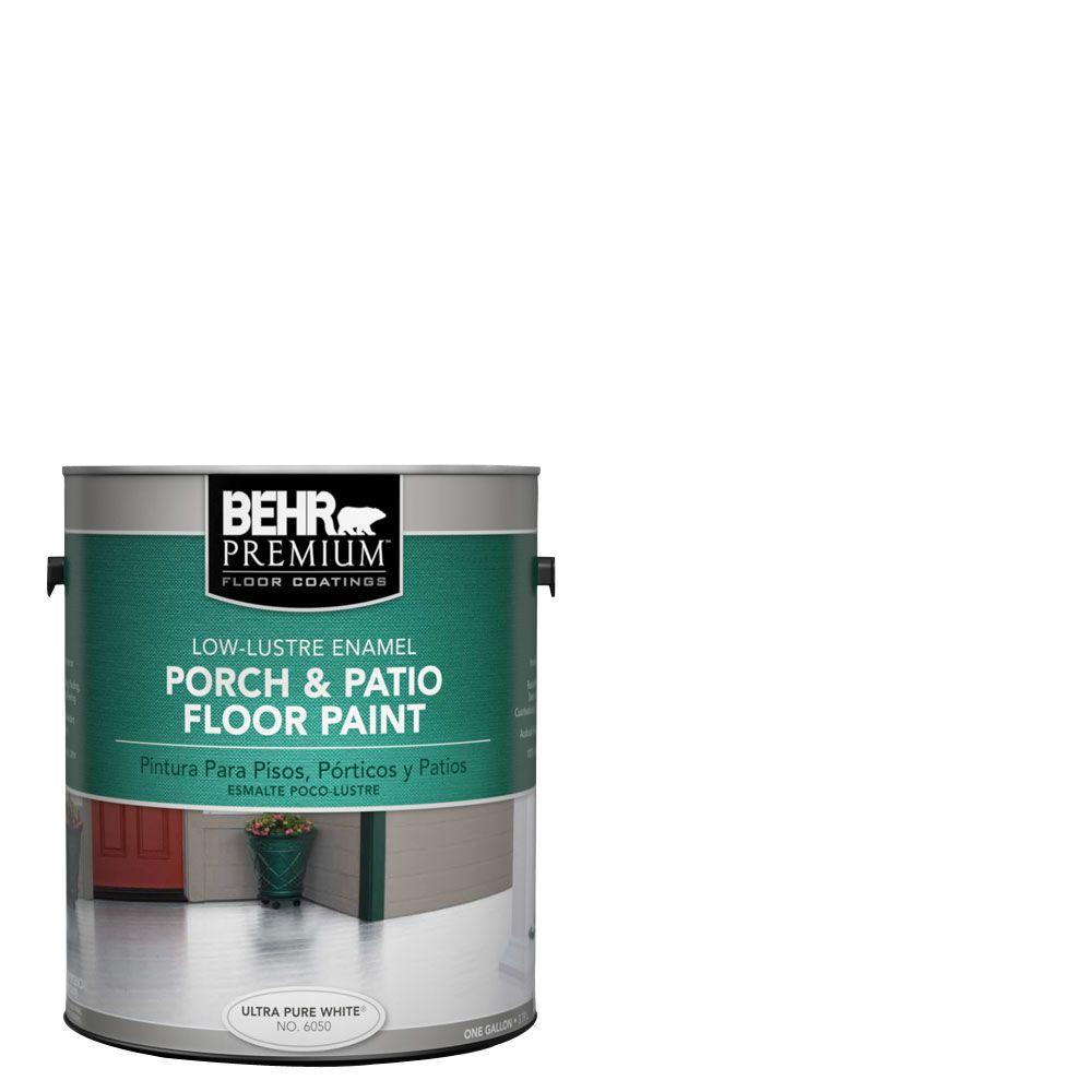 BEHR Premium 1 gal. #6050 Ultra Pure White Low-Lustre Interior/Exterior Porch and Patio Floor Paint