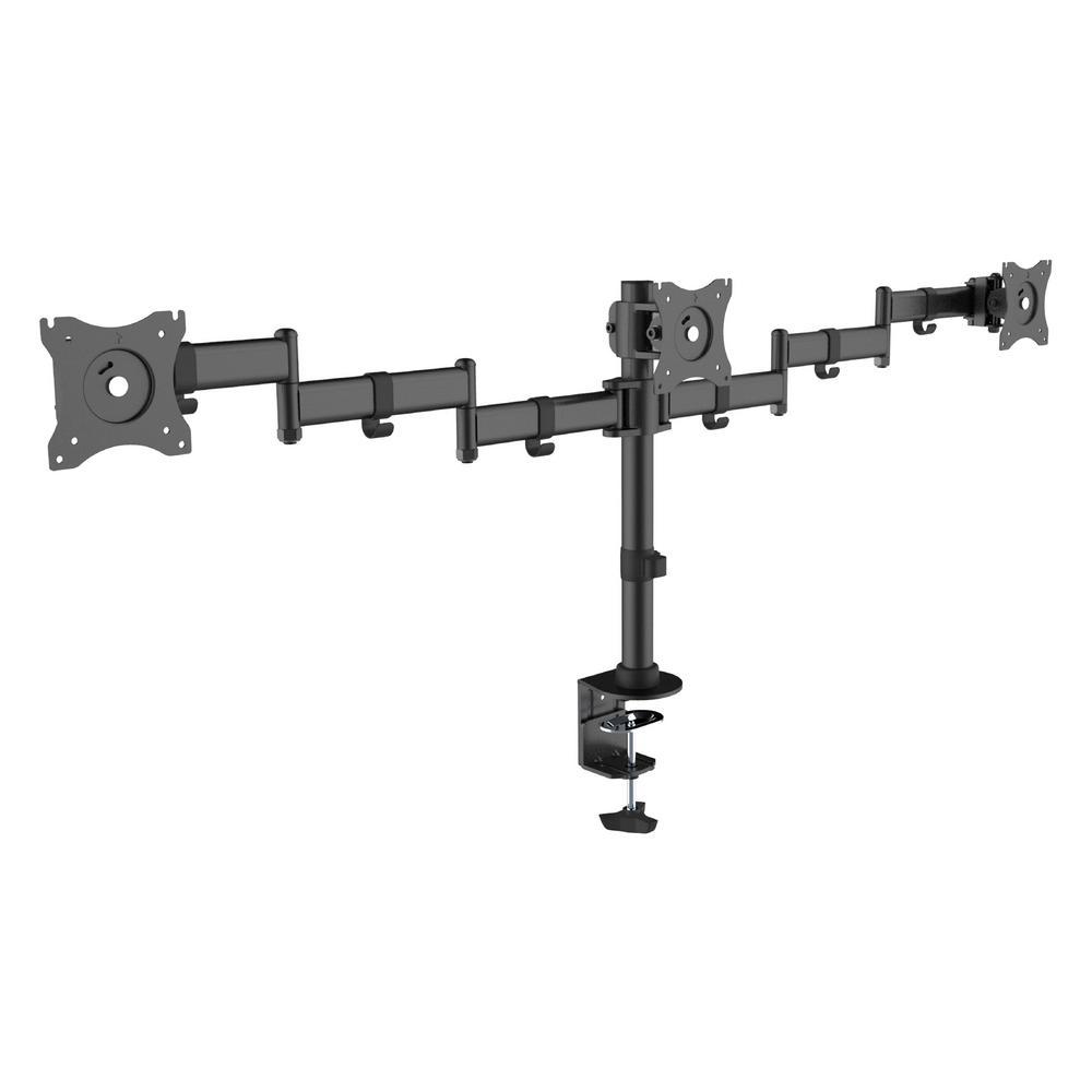 Canary Economy Steel LCD VESA Desk Mount For 3 Monitors