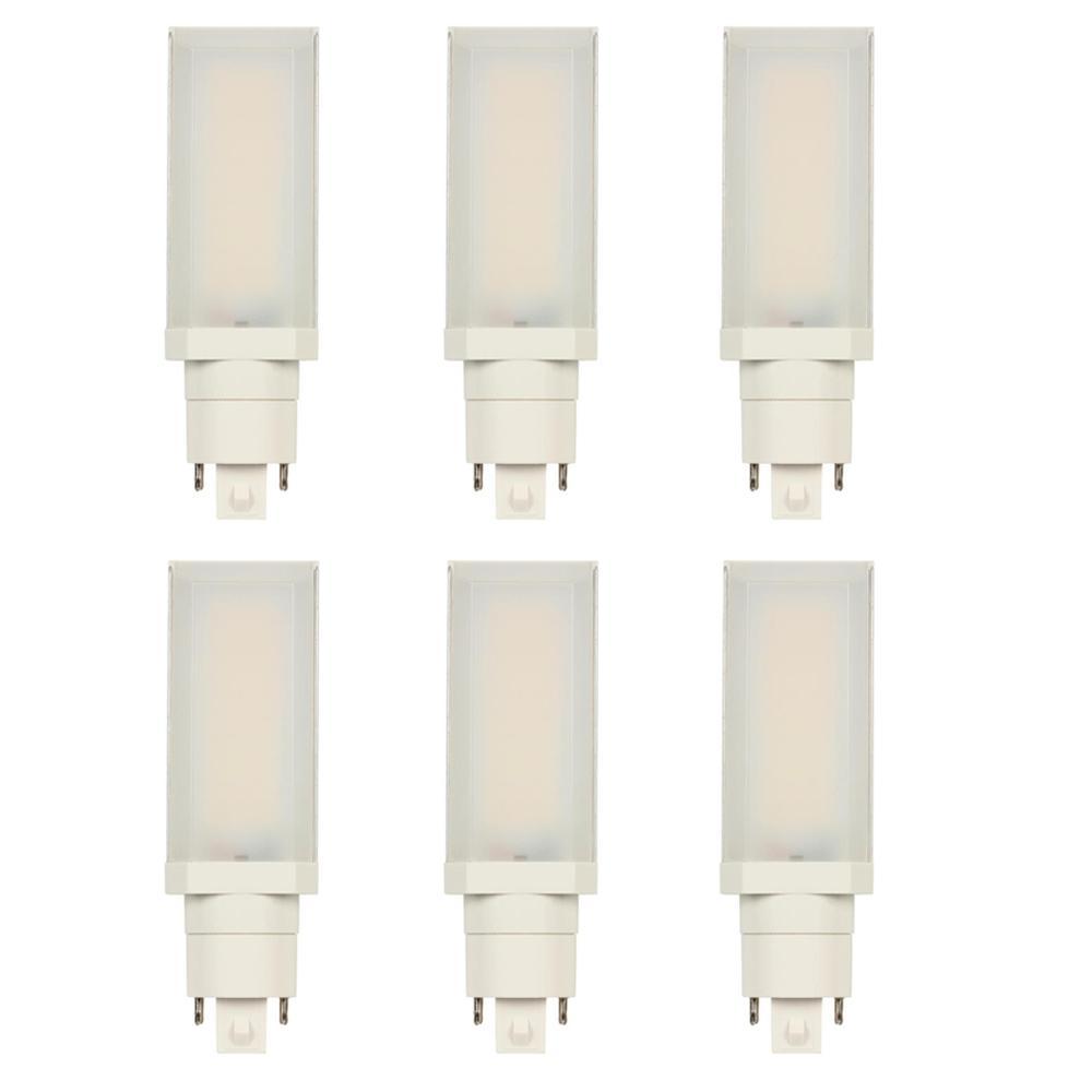 26-Watt Equivalent HPL Horizontal Direct Install Dimmable 3000K G24Q/GX24Q 4-Pin LED Light Bulb (6-Pack)