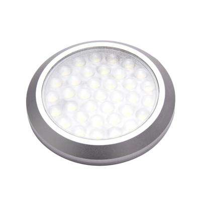POP LED Stainless Steel Under Cabinet Ultra Low-Profile Puck Light Kit