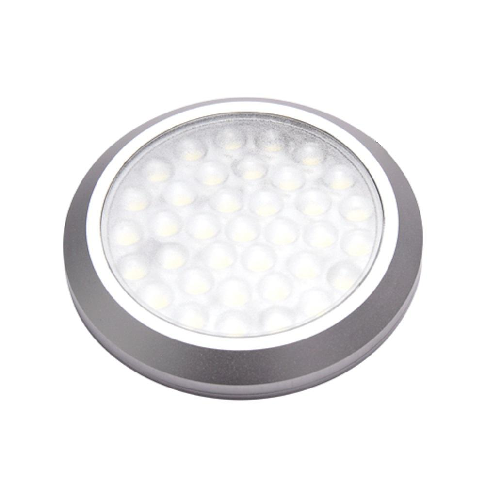 MacLEDS POP LED Stainless Steel Under Cabinet Ultra Low Profile Puck Light  Kit