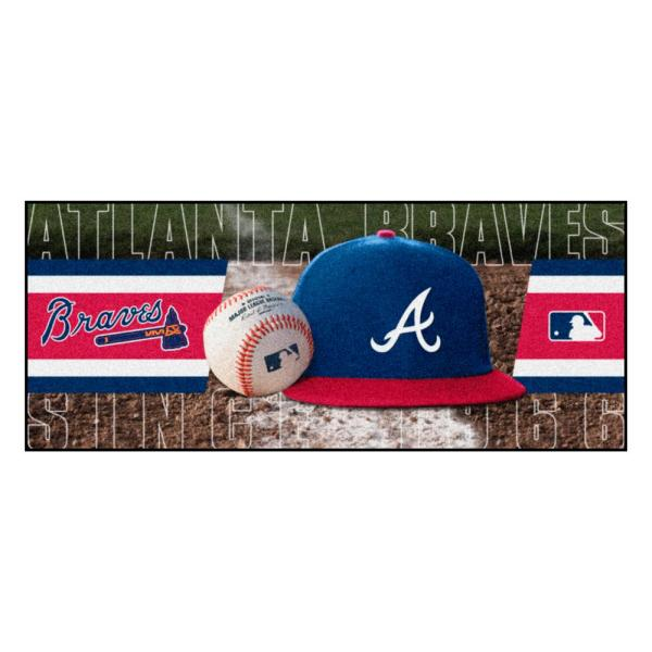 Atlanta Braves 3 ft. x 6 ft. Baseball Runner Rug