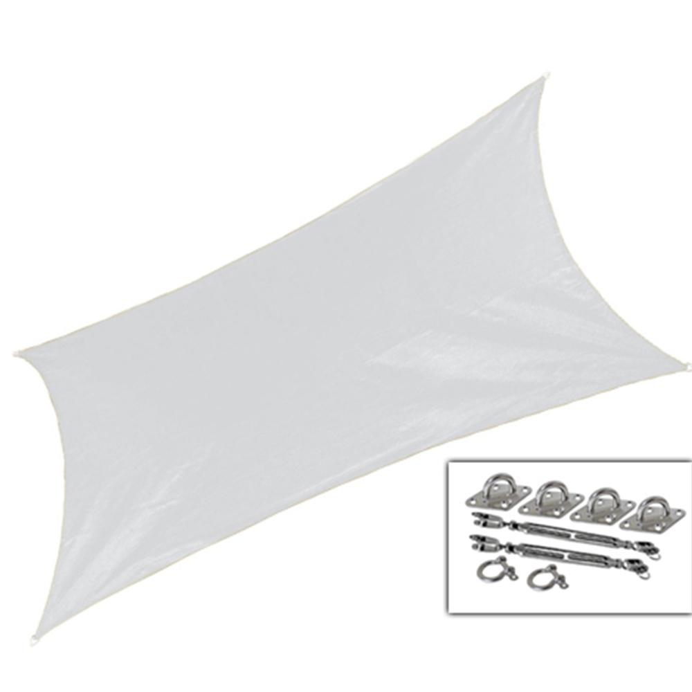 12 ft. x 10 ft. Ivory Rectangle Ultra Shade Sail with