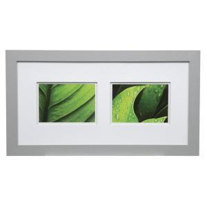 Pinnacle Gallery 5 inch x 7 inch Gray Double Mat Picture Frame by Pinnacle