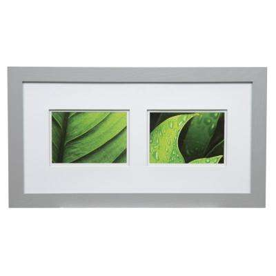 Gallery 5 in. x 7 in. Gray Double Mat Picture Frame
