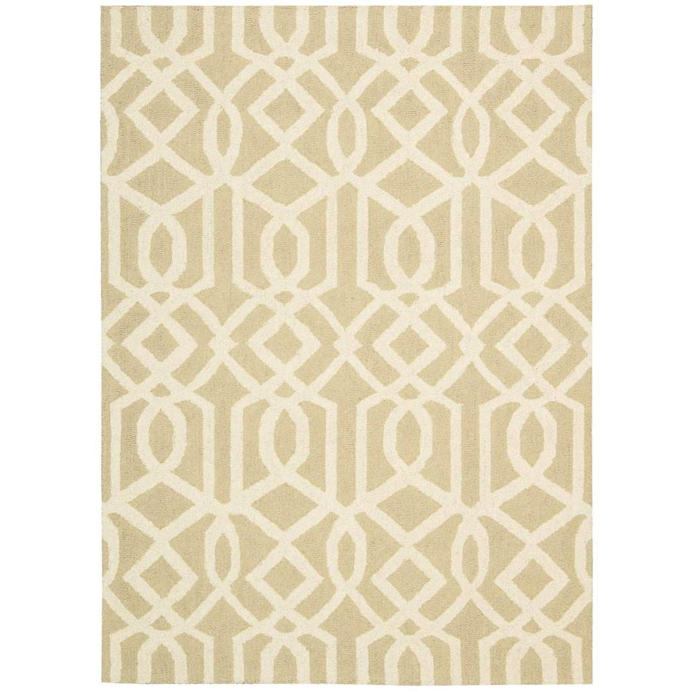 Nourison Linear Sand/Ivory 7 ft. 6 in. x 9 ft. 6 in. Area Rug
