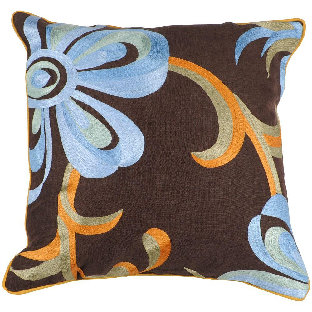 Artistic Weavers FloralD 18 in. x 18 in. Decorative Down Pillow