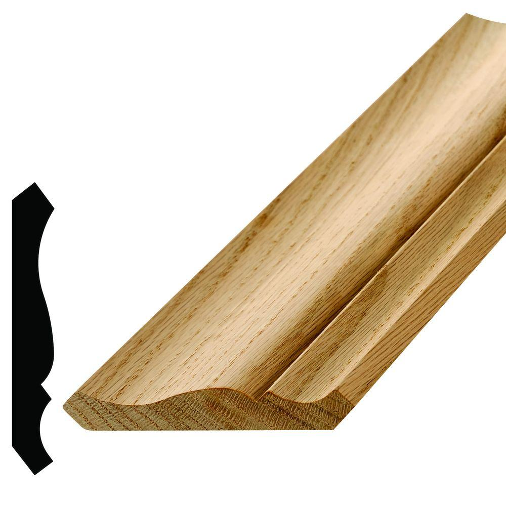WM 47 - 11/16 in. x 4-5/8 in. Oak Crown Moulding