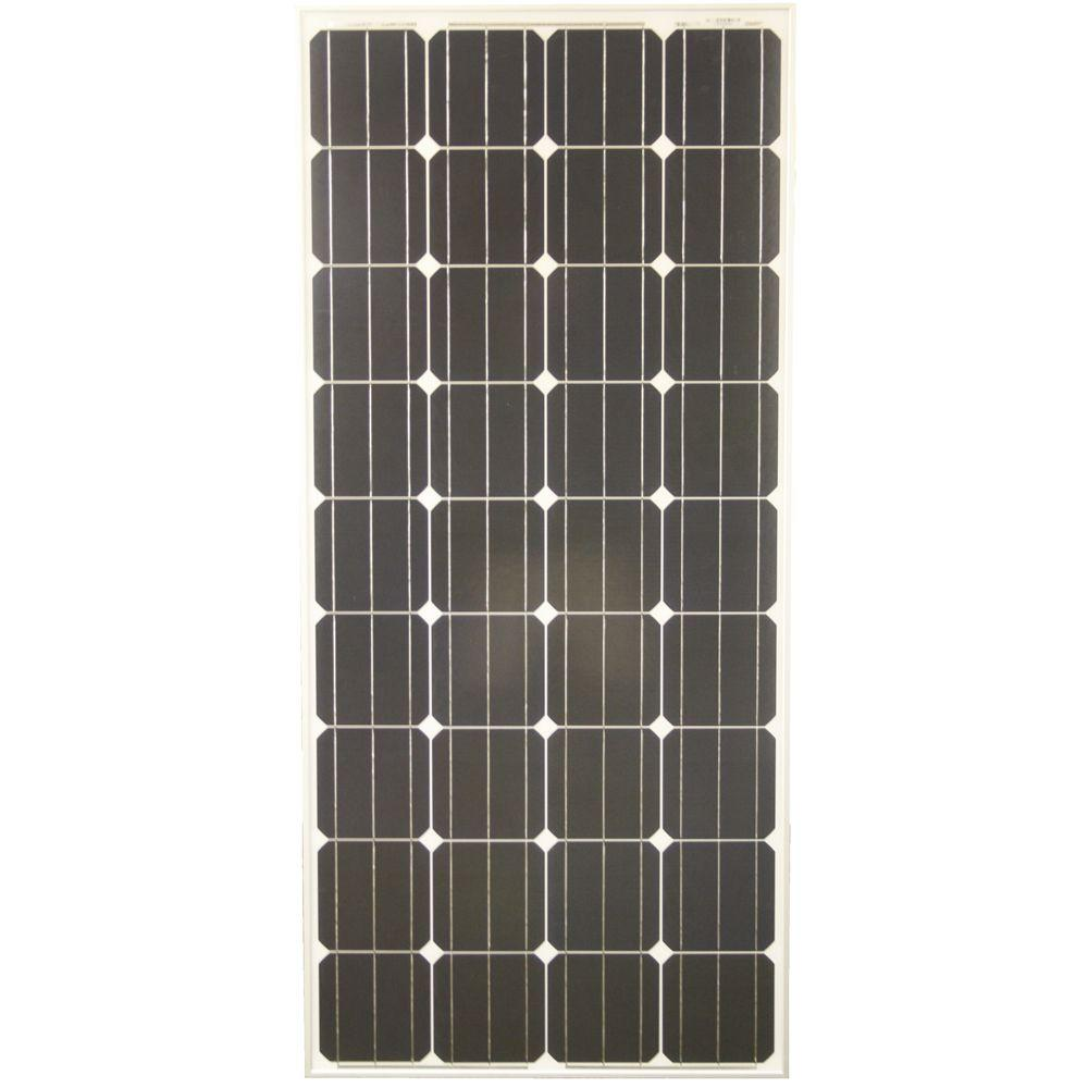 Grape Solar 160-Watt Monocrystalline PV Solar Panel for Cabins, RV's and Back-Up Power Systems