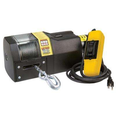 SAC1000 115-Volt AC Residential Winch with Hawse Fairlead and 6 ft. Remote