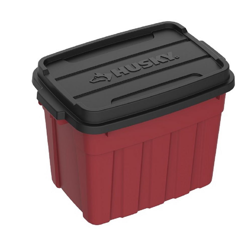 18 Gal. Heavy Duty Storage Bin in Red