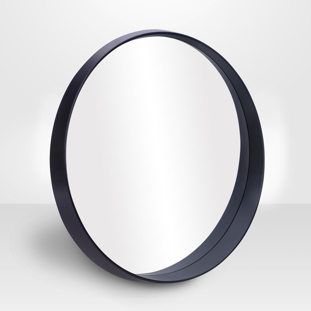 """PARSONS Round Slope Mirror - Black 28"""""""