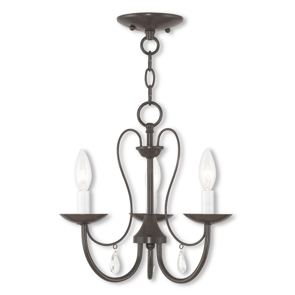Livex Lighting Mirabella 3-Light English Bronze Chandelier