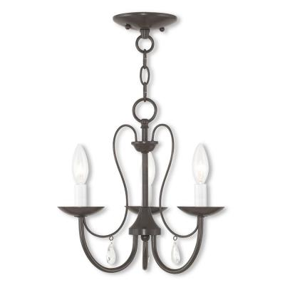 Mirabella 3-Light English Bronze Chandelier
