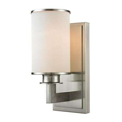 Lacy 1-Light Brushed Nickel Sconce