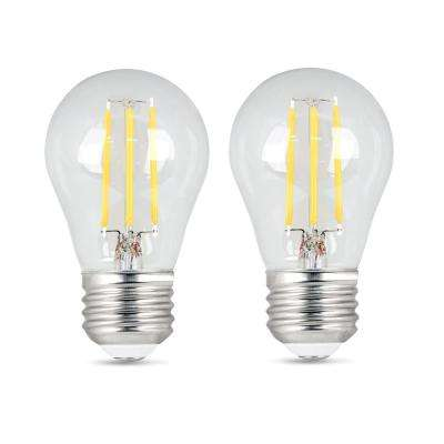 40-Watt Equivalent A15 Dimmable Filament LED 90+ CRI Clear Glass Light Bulb, Soft White (2-Pack)