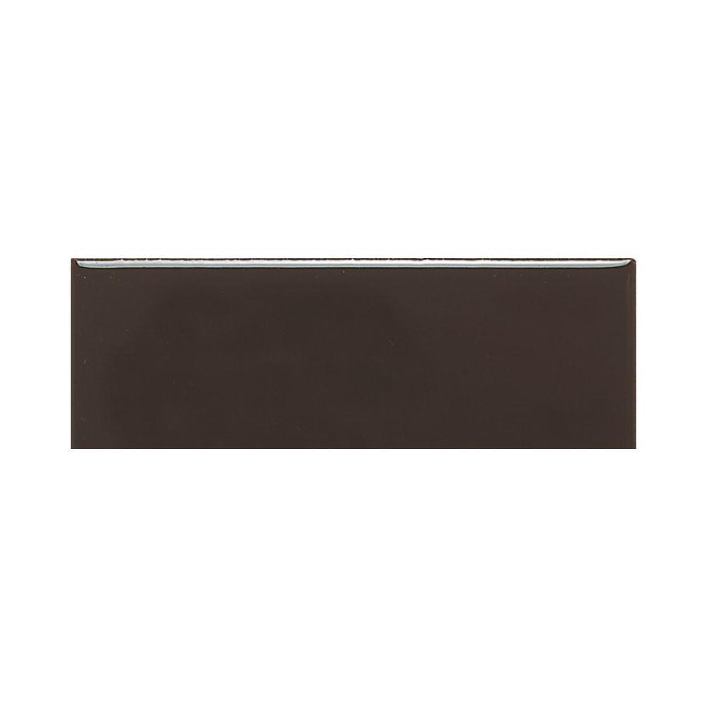 Daltile Modern Dimensions Matte Cityline Kohl 4-1/4 in. x 12 in. Ceramic Modular Wall Tile (10.64 sq. ft. / case)-DISCONTINUED