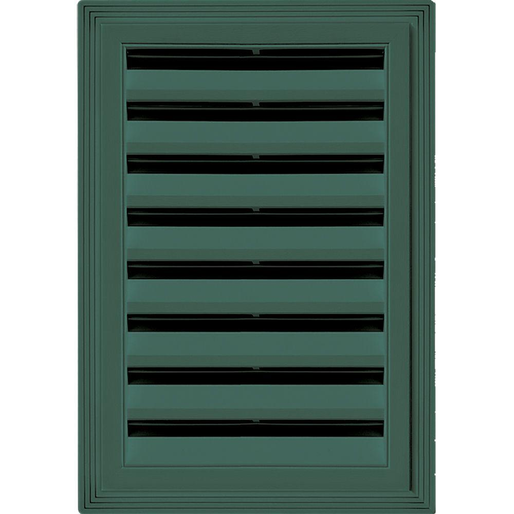 Builders Edge 12 in. x 18 in. Rectangle Gable Vent #028 Forest Green