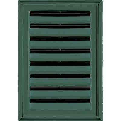 12 in. x 18 in. Rectangle Gable Vent #028 Forest Green