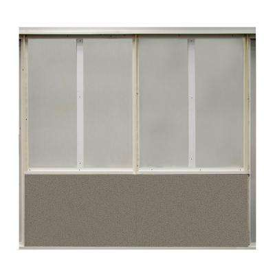 20 sq. ft. Goose Fabric Covered Bottom Kit Wall Panel